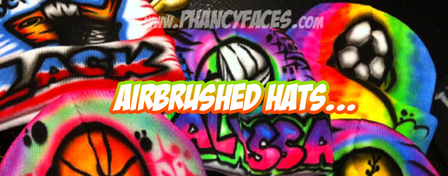 Airbrushed Winter hats