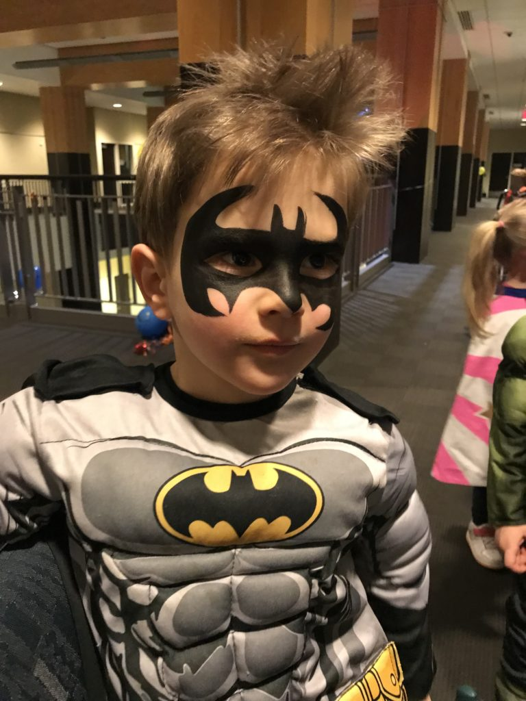 Batman Kids in costume Super Hero Party