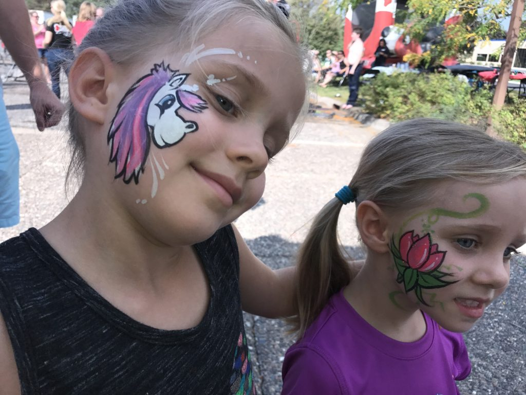 Unicorn and Lotus Face Painting Minnesota