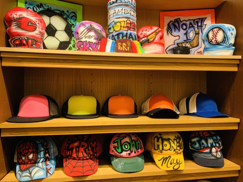 Novelty Custom Airbrushed Hats and Headbands