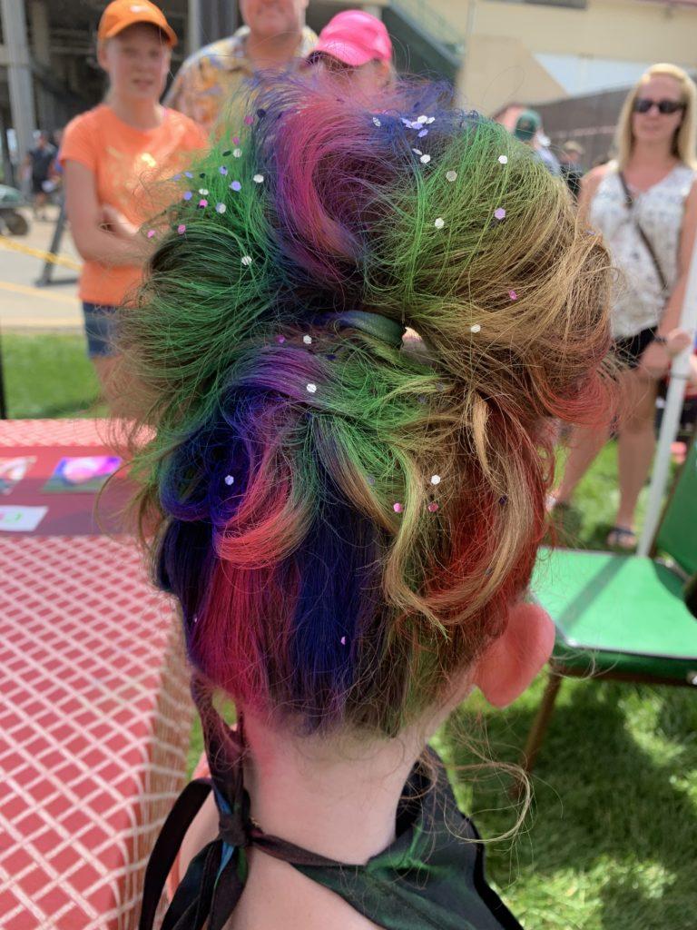 Colorful Rainbow Hair with Sparkles