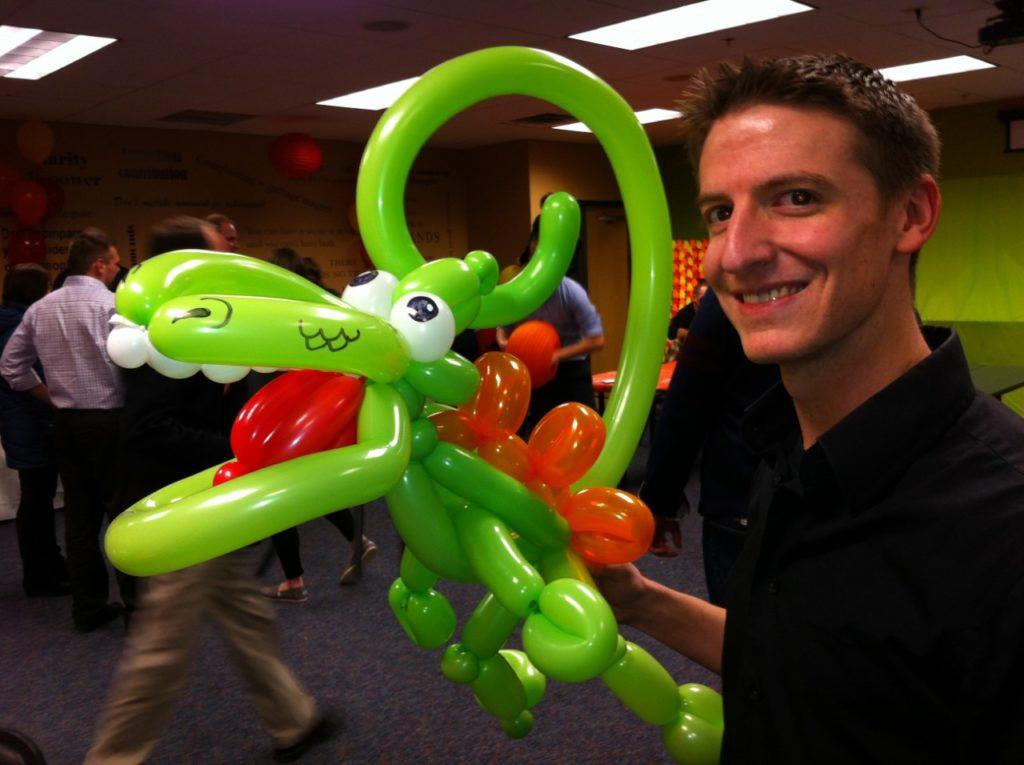 Phancy Original Dinosaur Green Balloon Animal Twist