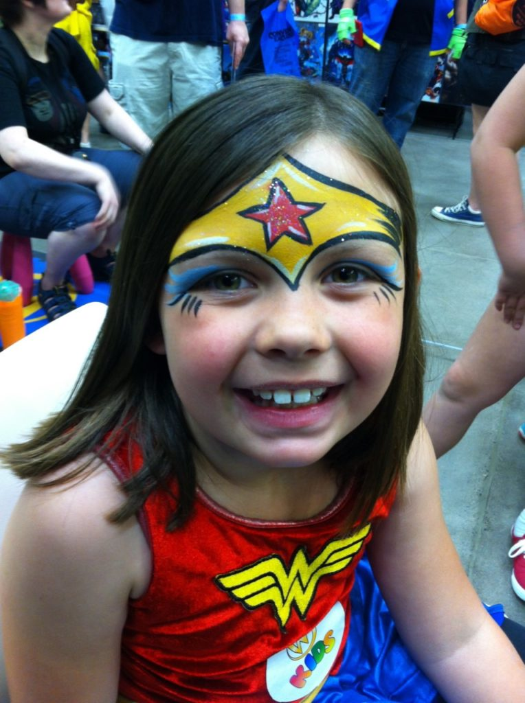 Young Wonder Woman Face Paint