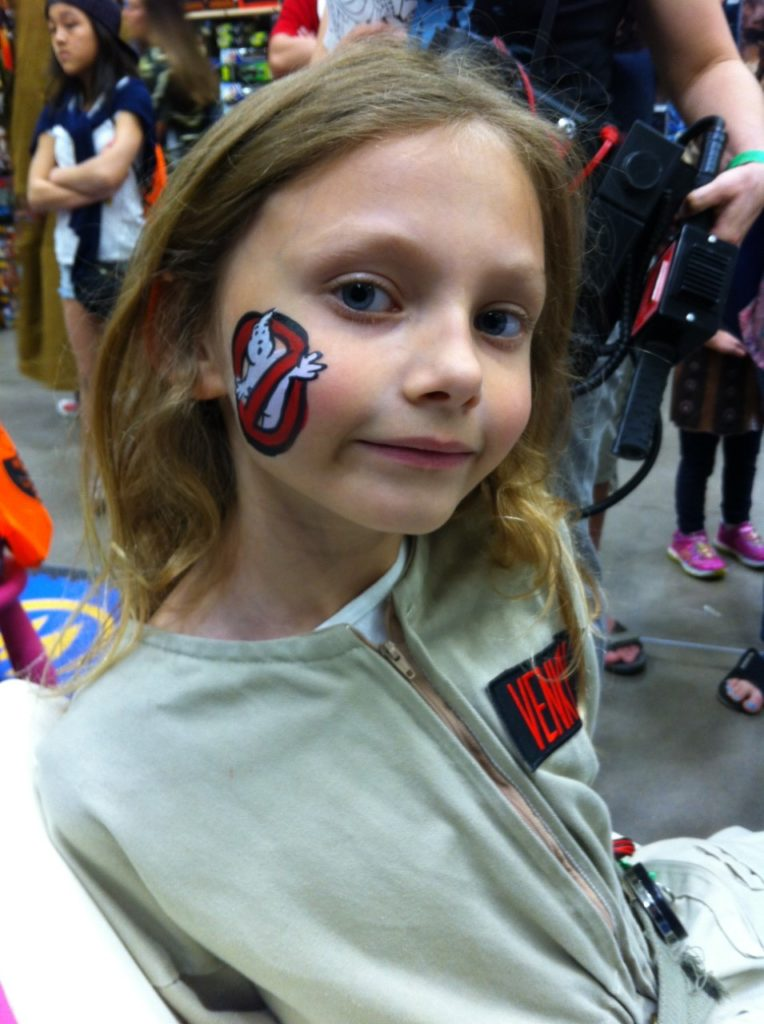 Ghostbuster Face Painting Comic Con