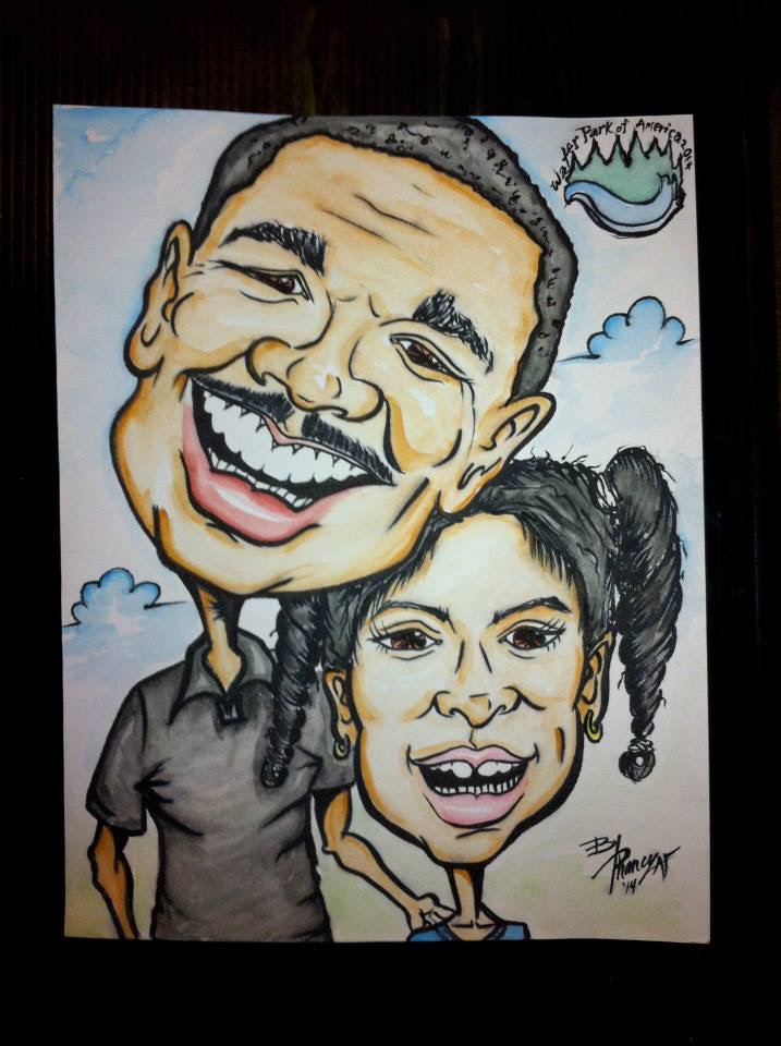 Father Daughter Portrait Caricatures